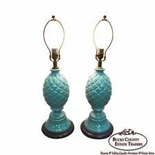 Pair of Pineapple Ceramic Table Lamps
