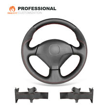 Black Leather Suede Steering Wheel Cover for Honda S2000 Civic Si For Acura RSX