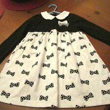 Little me Dress,Sz 4T, Black and white,Lg sl