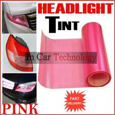 PINK Fog Tail Light Headlight Tint Tinting Film Car Van Wrap Sheet 30cm x 100cm