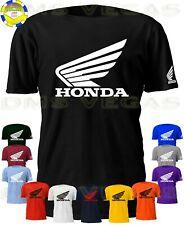 Honda Racing Motorcycle Atv Wing Logo Tee T-Shirt Men Unisex S-5Xl Auto Parts
