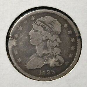 1835 CAPPED BUST QUARTER OLD U.S. TYPE COIN