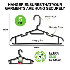 5-50pcs Swivel Clothes Hangers Coat Pant Suit Tie Rack Wardrobe Closet Organizer