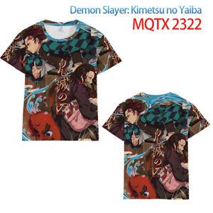 Unisex Tops Anime Print Demon Slayer Kimetsu no Yaiba Men's Short sleeve T-shirt