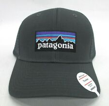 f4ce76a9870 Patagonia Mens P-6 Trucker Snapback Cap Hat 38017 Forge Grey