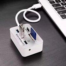 Multi-In-1 Memory Card Reader Adapter Aluminum 3 Port USB 3.0 Hub MS SD M2 TF
