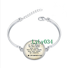 Wizard of Oz Quote glass cabochon Tibet silver bangle bracelets wholesale