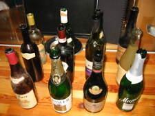12 Alte Weinflaschen 70' und 80'ge Jahren - Deko Flaschen Glasflaschen Glas RAR