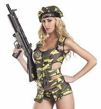 Women's Army Brat Sexy Adult Costume, Be Wicked BW1104, 3 Piece, Size S/M & M/L