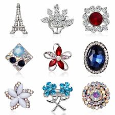 Wedding Bridal Bouquet DIY Jewelry Women Rhinestone Crystal Flower Brooch Pin