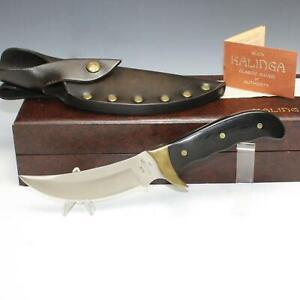 Vintage Buck KALINGA Micarta Full Tang Fixed Blade Knife w/ Leather Sheath MIB