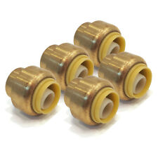 "(5) 1/2"" SharkBite Style Push to Connect LEAD FREE BRASS CAPS Plumbing Connector"