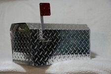TuffMailBox 101019 Heavy Duty Aluminum Dimond Plate 16 Gauge MailBox Large Size