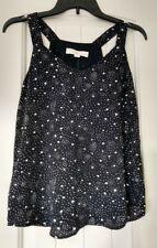 NEW Ann Taylor Loft Petite Black / White Blouse / Блузка, XXSP.