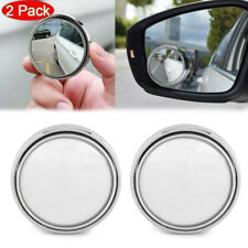 """2Pcs 2"""" Round Car Blind Spot Rear View Mirror Wide Angle Convex Rearview Mirrors"""