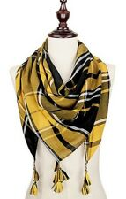 Iowa Hawkeyes Themed Game Day Plaid Large Square  Scarf with Tassels