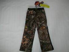 UNDER ARMOUR Hunting SCENT CONTROL Coldgear RUT Camo PANTS Boys SMALL / 8  $120