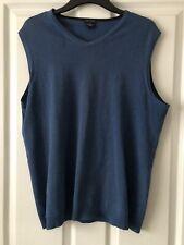 Mens's Waistcoat/ Jumper, Blue, Wool Blend, Size L, Daniel Hechter