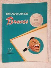 VINTAGE 1960 Milwaukee Braves Yearbook, Hank Aaron, Eddie Mathews, VERY NICE!!