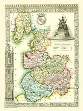 Old Map of Lancashire 1836 by Thomas Moule 1000 Piece Jigsaw Puzzle (jg)