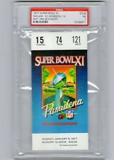 ~SUPER BOWL XI Ticket Stub Oakland RAIDERS vs. Vikings PSA 7 MINT~