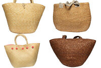Vintage Straw Bags Summer Beach Ladies Retro 90s Job Lot Wholesale x10 -Lot536