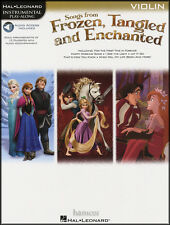 Songs from frozen, embrouillées & enchanted violon instrumental play-along music book