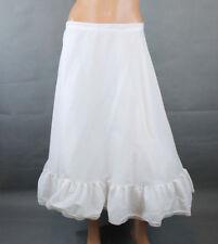 Bridal Crinoline Sz L Vintage Tea Length Wedding Petticoat Half Slip Flared