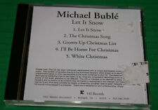 Michael Buble' Let It Snow Rare Advanced Promotional CD 5 Tracks 2003 Htf Oop