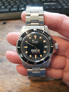 1665 1680 Sub Mod Seiko NH35 Automatic Stainless Mens Diver Watch Nice!!!