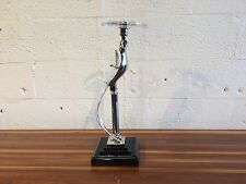 decorative candlestick by nulco bird glass art deco style nickel