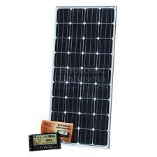 150W DUAL 12 Volt Batteria KIT PANNELLO SOLARE CAMPER CAMPER CARAVAN BARCA 150 WATT
