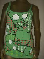 New Vintage Juniors M Nickelodeon Alien Invader Zim Robot Gir Dog Tank Top Shirt