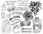 Unmounted Rubber Stamps Sheets, Christmas Stamps, Seasonal, Stocking, Sayings