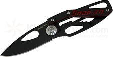SNAP-ON FOLDING KEY RING KNIFE POCKET/MONEY CLIP TRENDY BLACK NEW