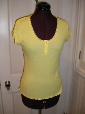 NWT VICTORIA'S SECRET 'ANGELS' Yellow Sleep Top Or Wear Out!