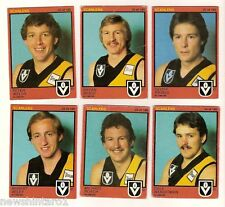 #D72.  12 RICHMOND TIGERS  1982 SCANLENS VFL FOOTY CARDS