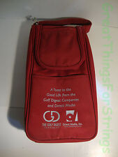 The Golf Digest Red Two 2 Bottle Wine Bag w/ Opener Cushioned Handle Carrier
