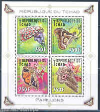 CHAD 2013 BUTTERFLIES  SET OF FOUR  MINT NH