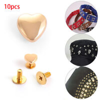 Crafts Shoes Decoration Garment Heart Pattern Rivets Scrapbooking Cloth Button
