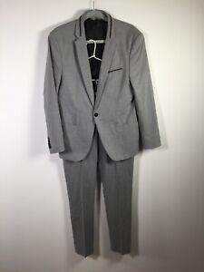 Zara man grey full suit size 40 Jacket Pants size 31 W33 inches good condition