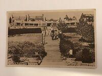 Westcliff On Sea Southend Essex Vintage Postcard The Steps,Shelter Cliff Garden