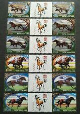 2002 New Zealand Zodiac Lunar Year of the Horse Stamps (Gutter Pairs) Mint NH