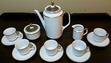 Jahre Bareuther Waldsassen Germany Coffee Pot & Demitasse Cups, Saucers