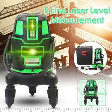 Green Beam 5 Line 6 Point Laser Level Rotary Self-Leveling Cross Line Measure