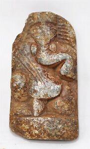 Antique Black Stone God Ganesha Idol Figurine Original Old Hand Carved