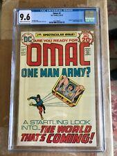 Omac #1 CGC 9.6 CR / OW P 1st app + Origin of OMAC 1974