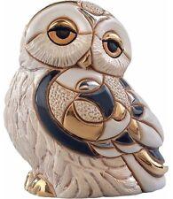 DeRosa Rinconada Snowy Owl NIB # F135 De Rosa Ceramic Figurine NEW IN BOX