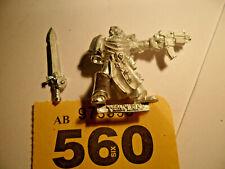 Warhammer 40k Space Marine rare metal Black Templar Captain Draco Astartes Y560