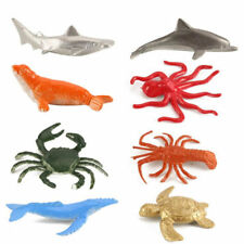 8pcs Plastic Marine Animal Ocean Creatures Octopus Dolphin Shark Model Kid Toy